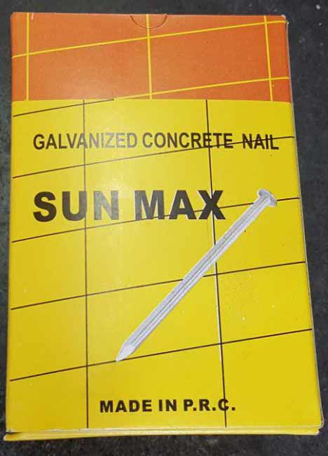 خرید فروش پخش عمده لیست قیمت میخ فولادی سفید گالوانیزه سان مکس sun max